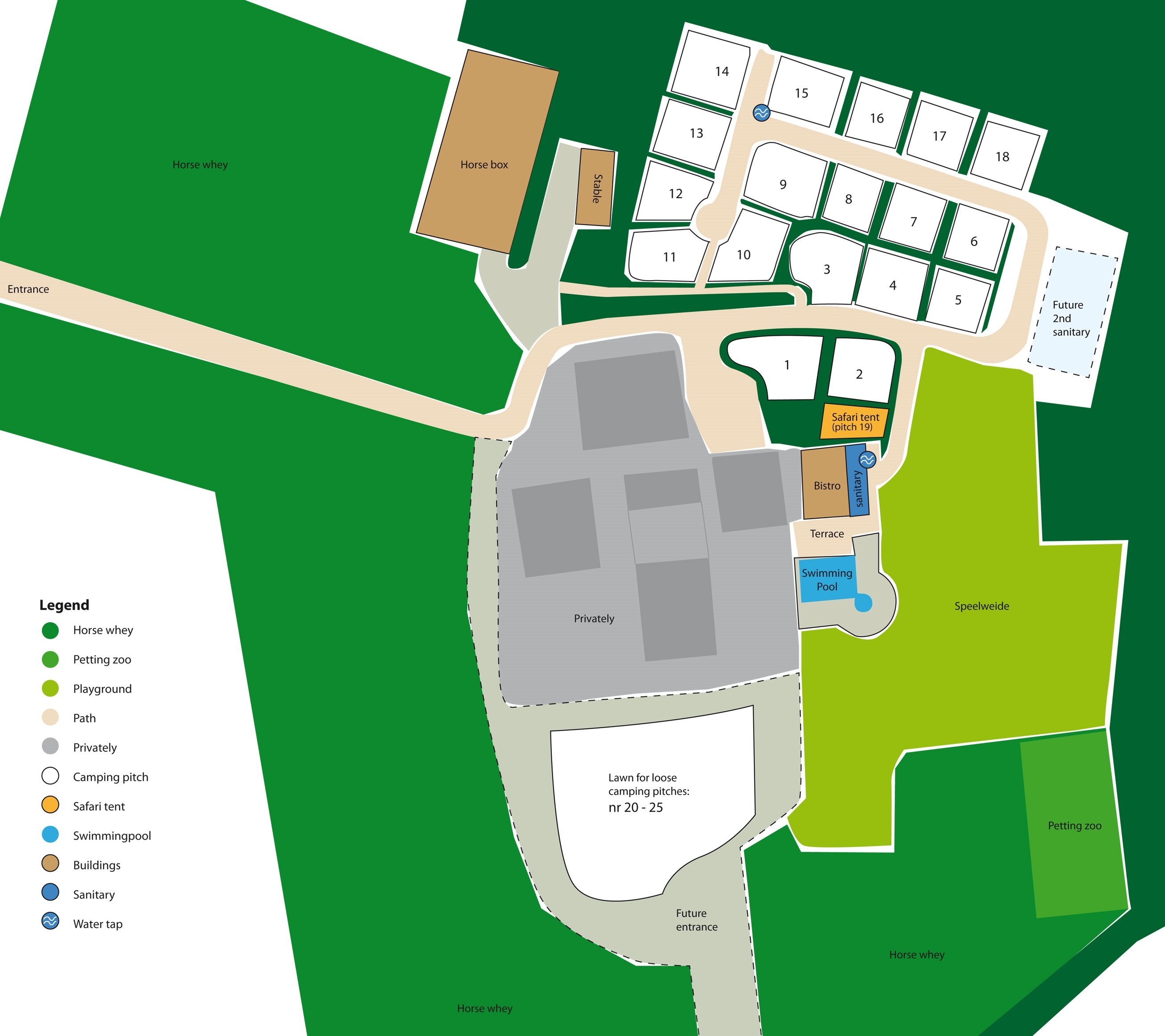 plattegrond camping charmant en